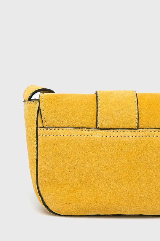 žlutá Pieces - Kožená kabelka