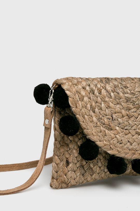 Pieces - Kabelka  Podšívka: 80% Polyester, 20% Viskóza Hlavní materiál: 90% Juta, 10% Semišová kůže