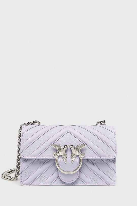 purpurová Pinko - Kožená kabelka Dámský