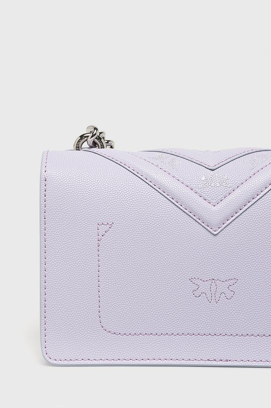 purpurová Pinko - Kožená kabelka