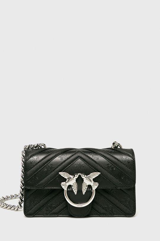 černá Pinko - Kožená kabelka Dámský
