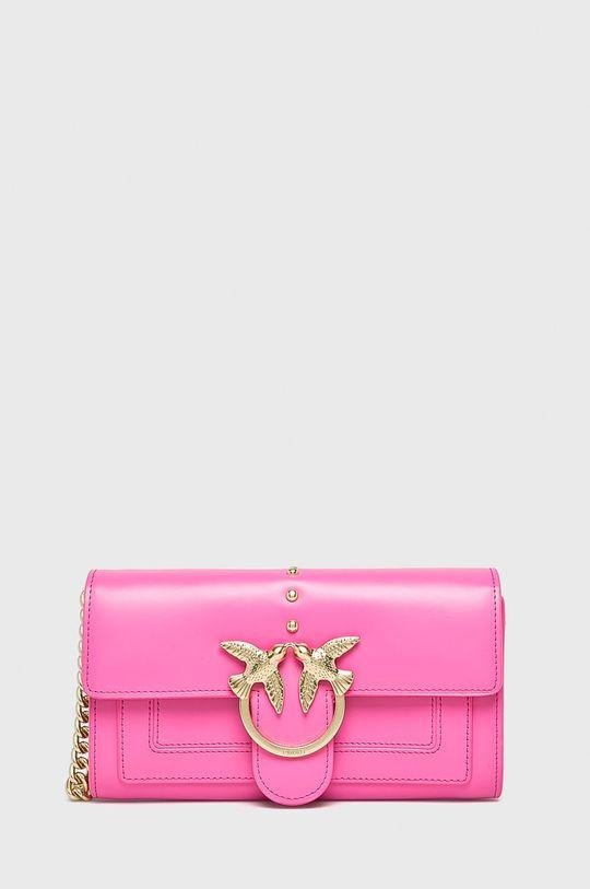 růžová Pinko - Kožená kabelka Dámský