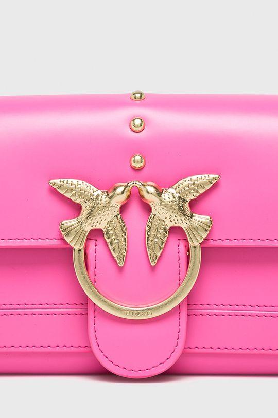Pinko - Kožená kabelka růžová