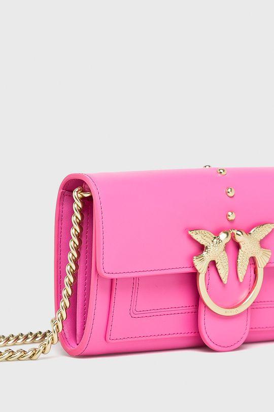 Pinko - Kožená kabelka Přírodní kůže