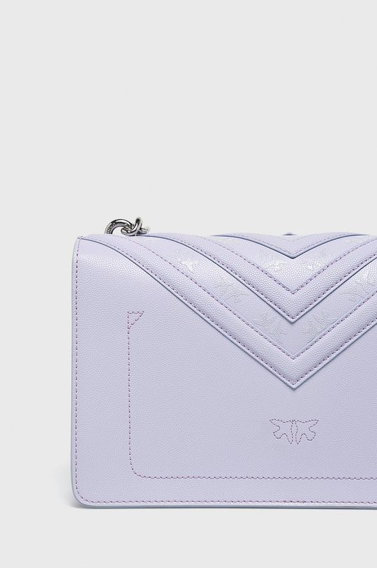 Pinko - Kožená kabelka purpurová