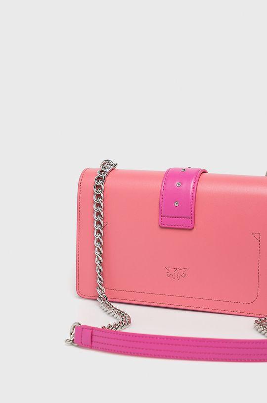 růžová Pinko - Kožená kabelka