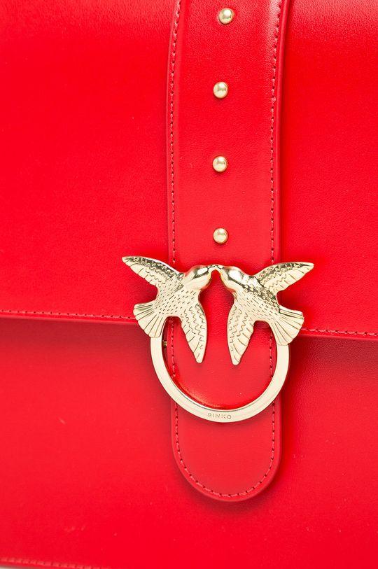 Pinko - Kožená kabelka červená