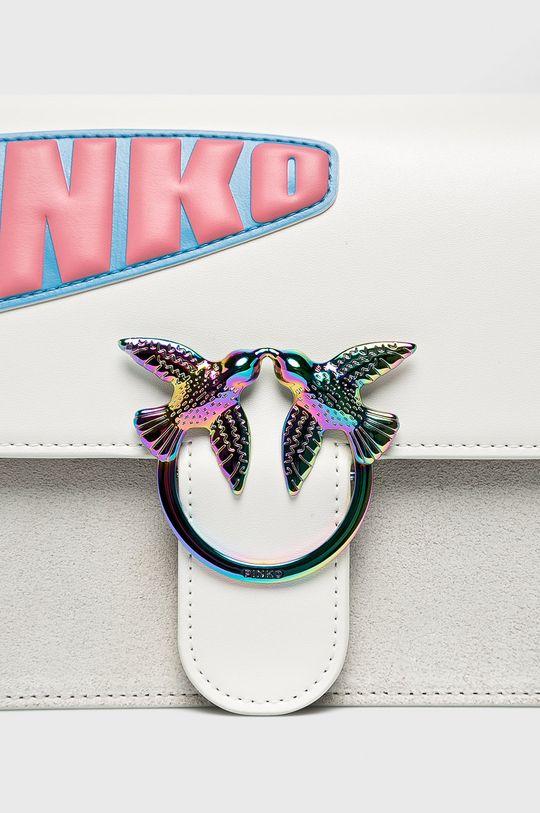 Pinko - Kožená kabelka bílá