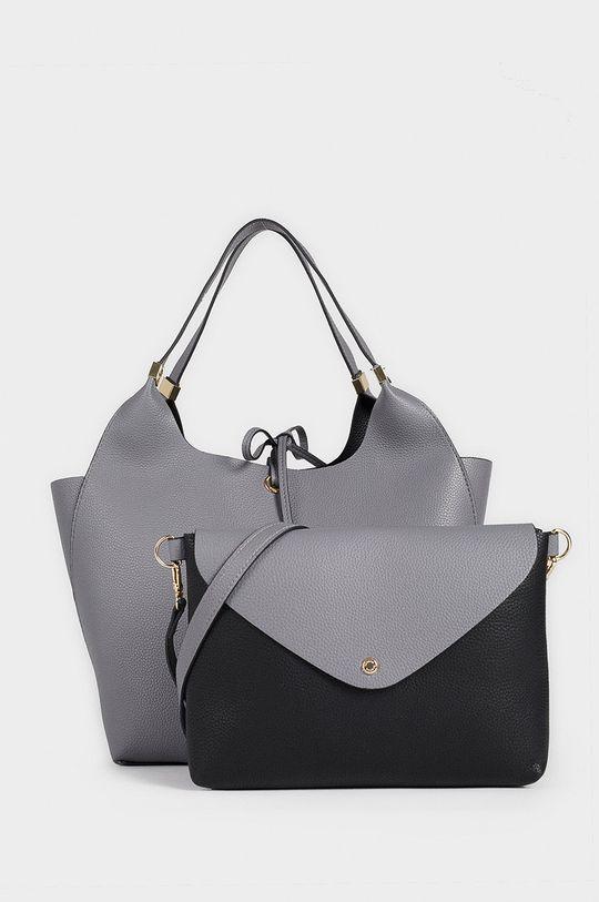 Parfois - Oboustranná kabelka stříbrná