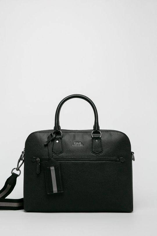 černá Polo Ralph Lauren - Kožená taška Pánský