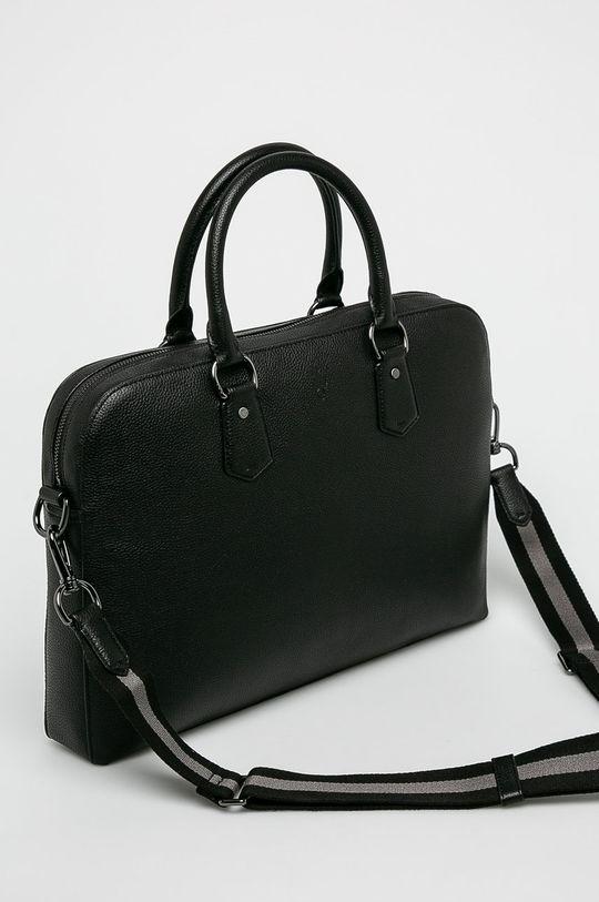 černá Polo Ralph Lauren - Kožená taška