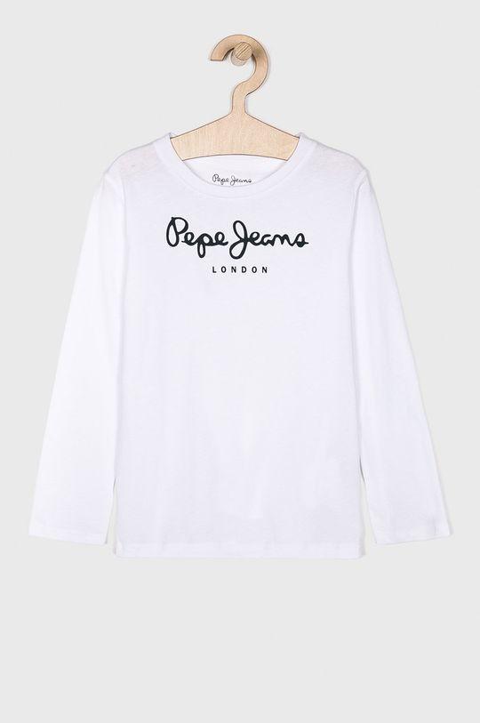bílá Pepe Jeans - Dětské tričko s dlouhým rukávem 128-180 cm Chlapecký