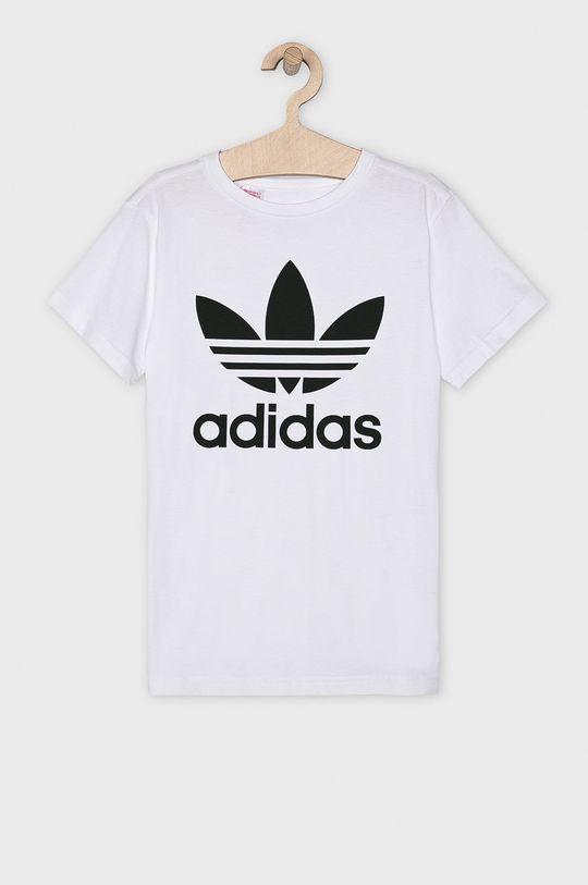 biały adidas Originals - T-shirt dziecięcy 128-164 cm Chłopięcy