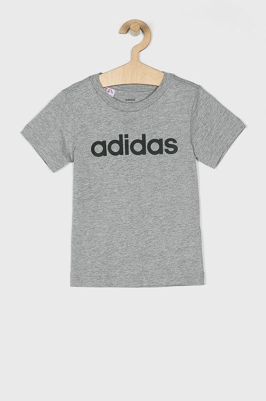 szary adidas - T-shirt dziecięcy 110-176 cm Chłopięcy