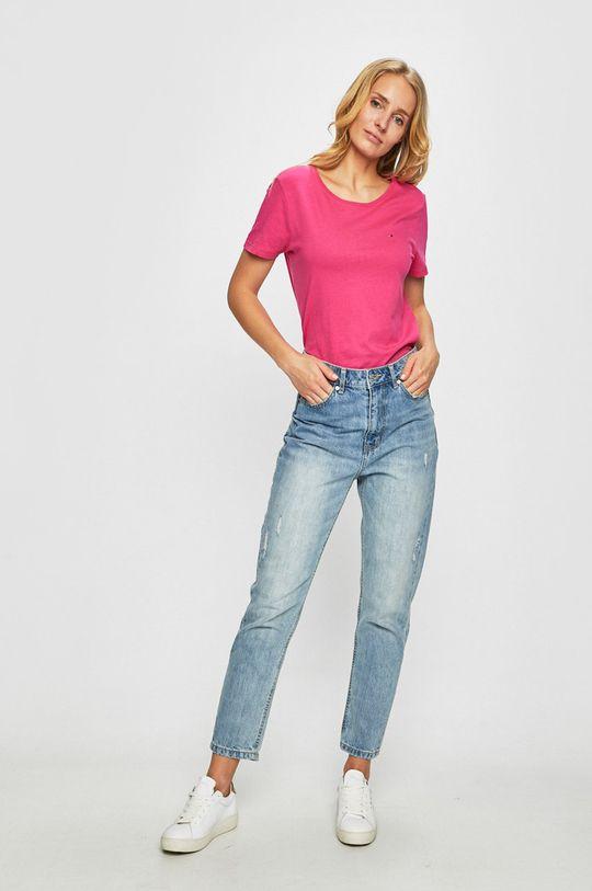 Tommy Jeans - Top sýto ružová