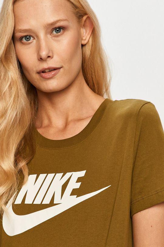 oliwkowy Nike Sportswear - T-shirt Damski