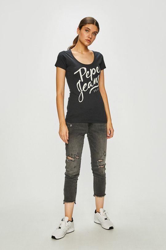Pepe Jeans - Top grafitová