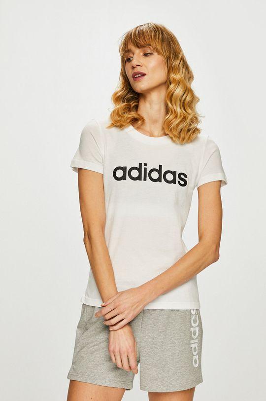 biały adidas - Top Damski