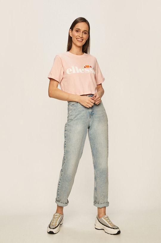 Ellesse - T-shirt brudny róż