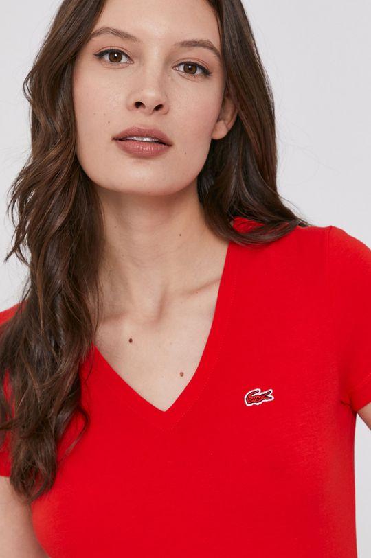 czerwony Lacoste - T-shirt