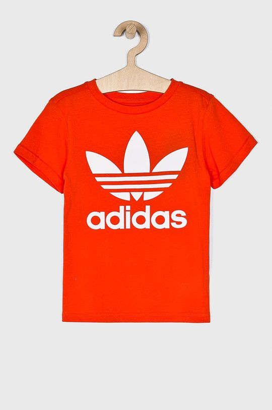 oranžová adidas Originals - Detský top 128-164 cm Dievčenský