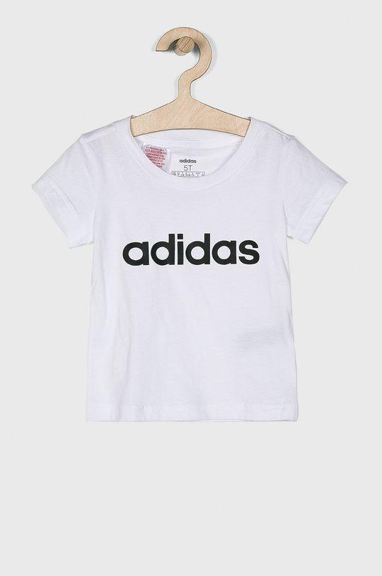 biela adidas Performance - Detský top 110-170 cm Dievčenský