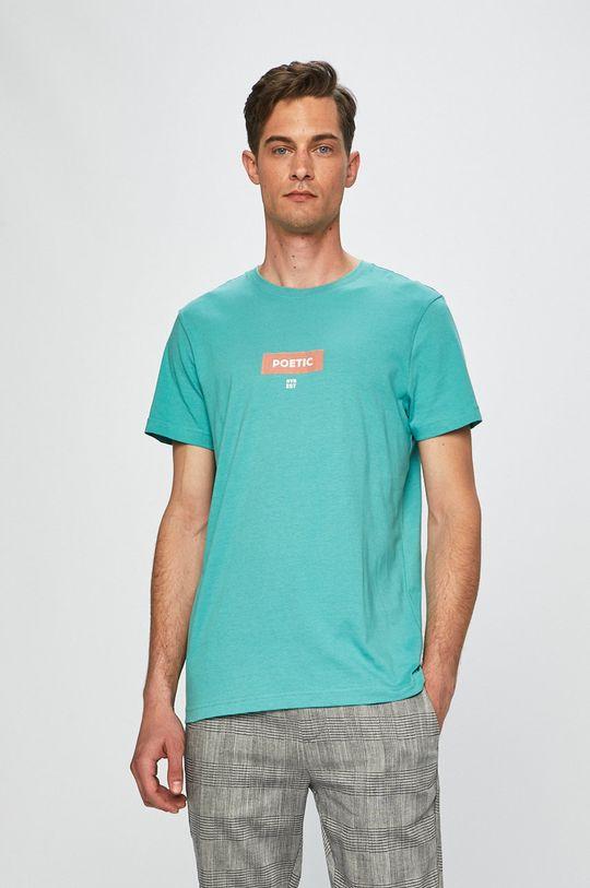 zelená Review - Pánske tričko Pánsky