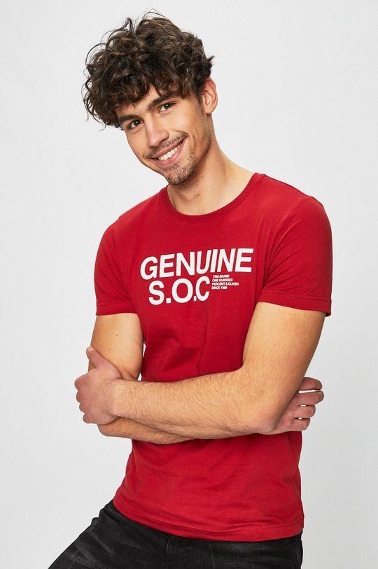 červená s. Oliver - Pánske tričko Pánsky