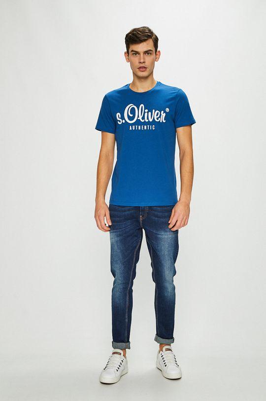 s. Oliver - Pánske tričko modrá