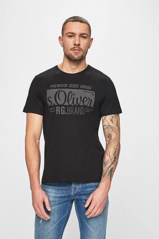 čierna s. Oliver - Pánske tričko Pánsky