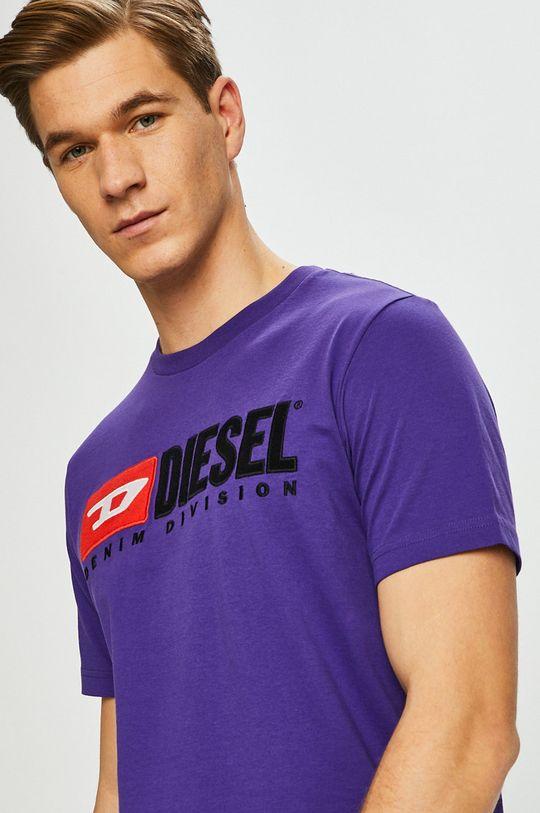 purpurová Diesel - Tričko Pánský