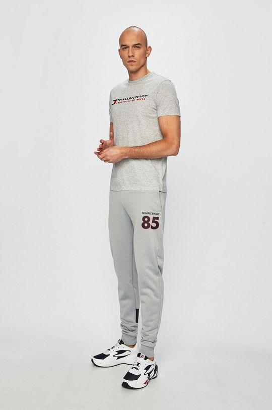 Tommy Sport - T-shirt jasny szary