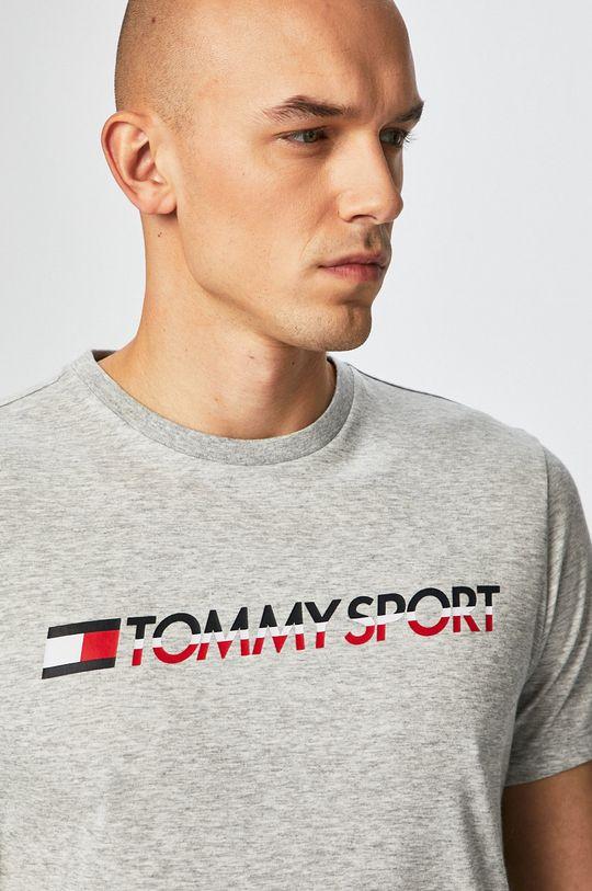jasny szary Tommy Sport - T-shirt