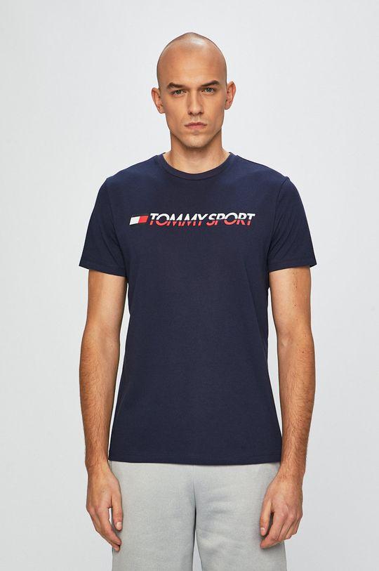 granatowy Tommy Sport - T-shirt Męski