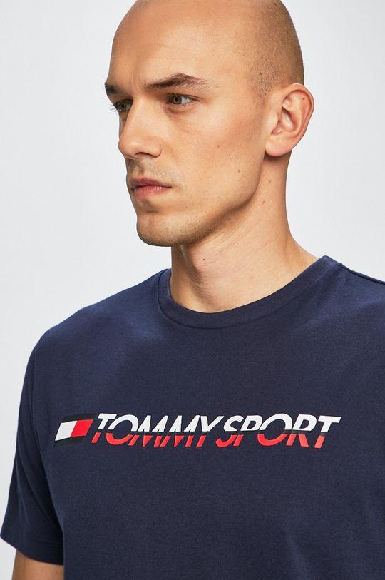 granatowy Tommy Sport - T-shirt