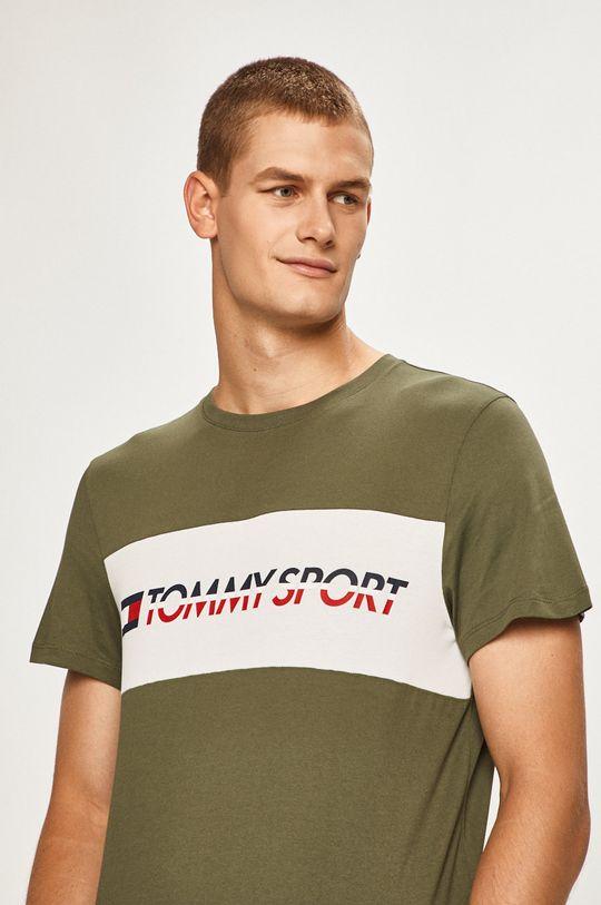 masliniu deschis Tommy Sport - Tricou De bărbați