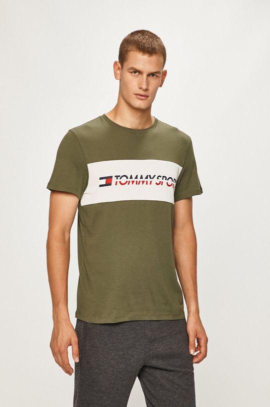 masliniu deschis Tommy Sport - Tricou