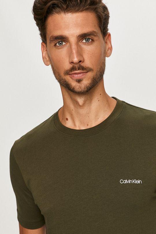 olivová Calvin Klein - Tričko Pánský
