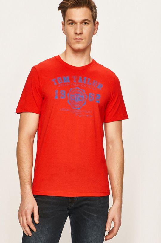 ostry czerwony Tom Tailor Denim - T-shirt Męski