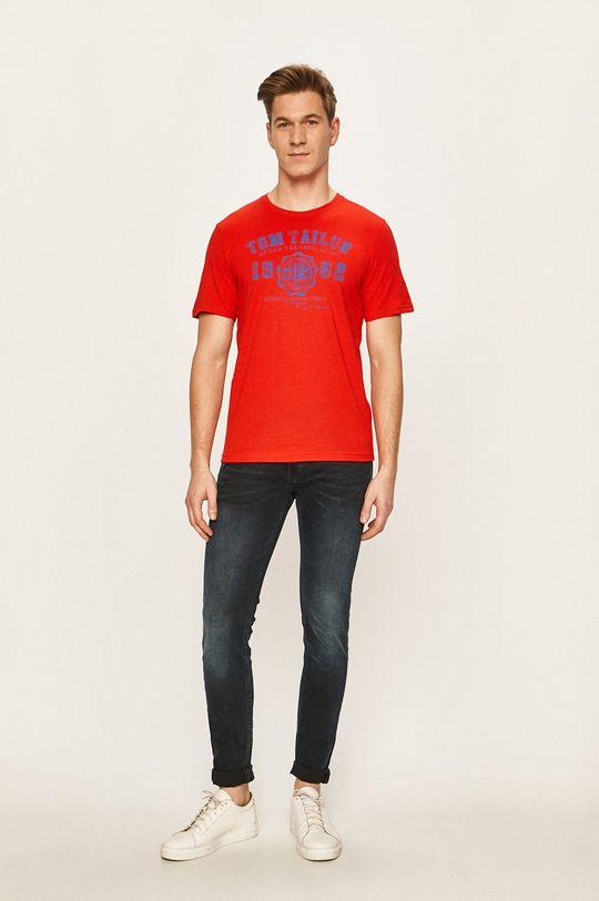 Tom Tailor Denim - T-shirt ostry czerwony