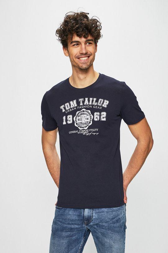 námořnická modř Tom Tailor Denim - Tričko Pánský