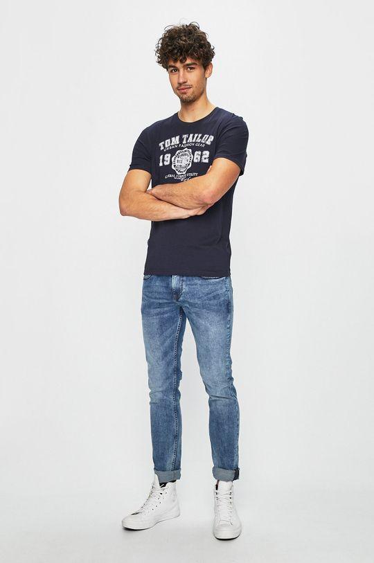 Tom Tailor Denim - Tričko námořnická modř