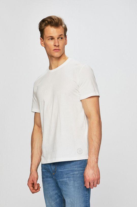 bílá Tom Tailor Denim - Tričko (2-Pack) Pánský