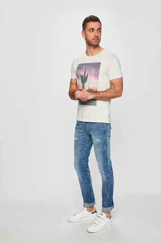 Pepe Jeans - Tričko smetanová