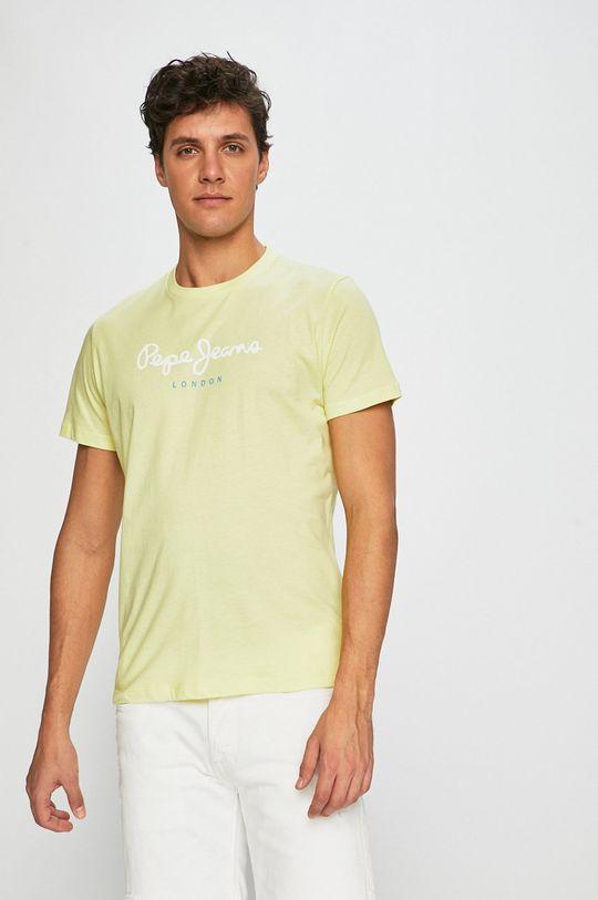 žlutá Pepe Jeans - Tričko Pánský