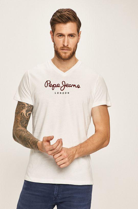 biela Pepe Jeans - Pánske tričko Pánsky