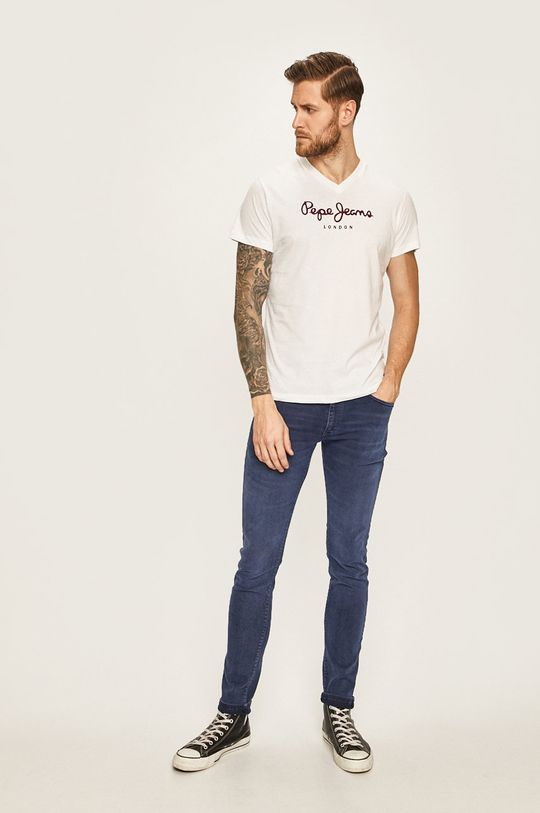 Pepe Jeans - Pánske tričko biela