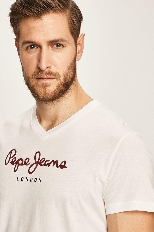 biela Pepe Jeans - Pánske tričko