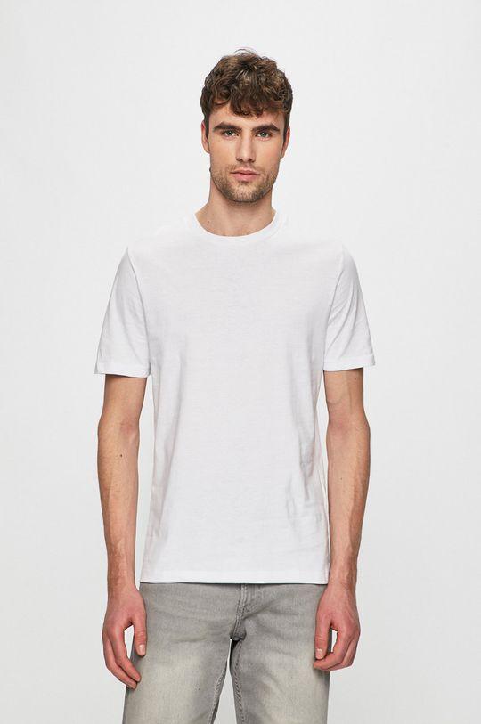biela Produkt by Jack & Jones - Pánske tričko Pánsky