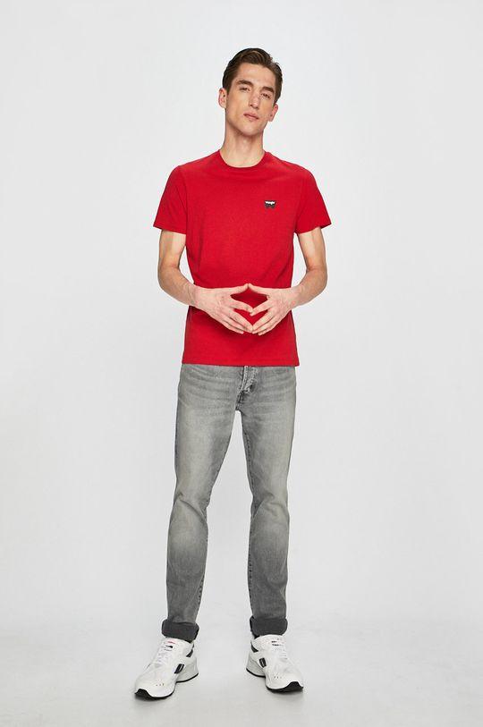 Wrangler - T-shirt czerwony